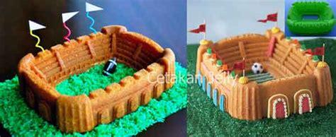 Cetakan Silikon Kue Puding Stadium cetakan silikon kue puding stadium cetakan jelly cetakan jelly