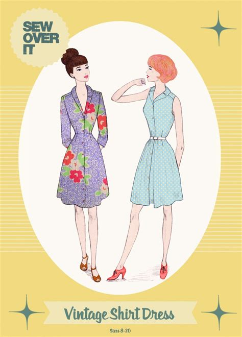 Products Archive Make Sewing Patterns | sew over it ladies sewing pattern vintage style shirt