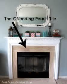 stenciled faux tile fireplace tutorial east coast