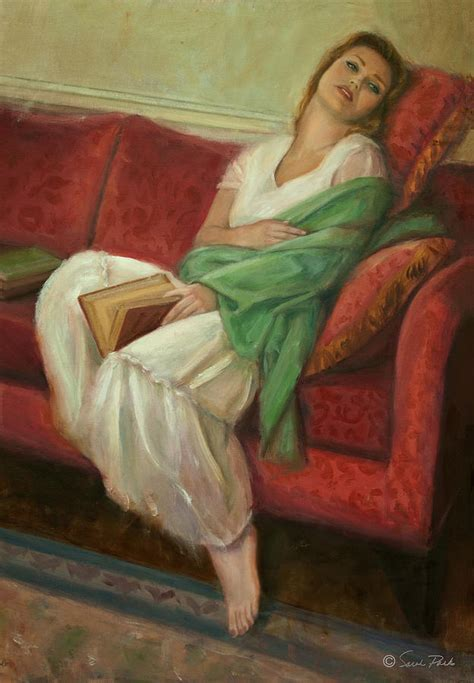 reclining with book painting by parks