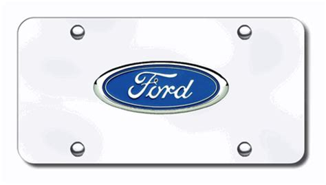 Ford Vanity Plates by Ford Logo License Plates Vanity Logo Tags Chrome Ford License Plates Vanity Logo Tags