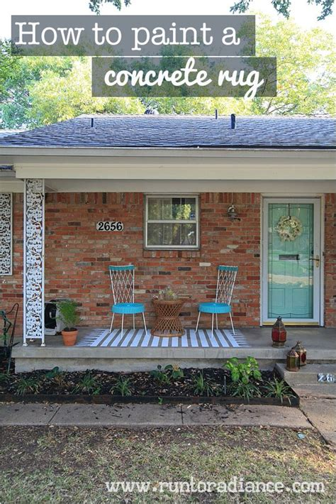How To Paint A Concrete Patio by Easy Painted Concrete Rug Hometalk