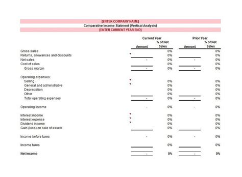 cost of sales template 27 income statement exles templates single multi