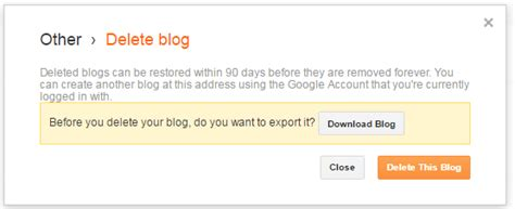 blogger delete blog how to delete a blogger blog permanently in 5 minutes faqs
