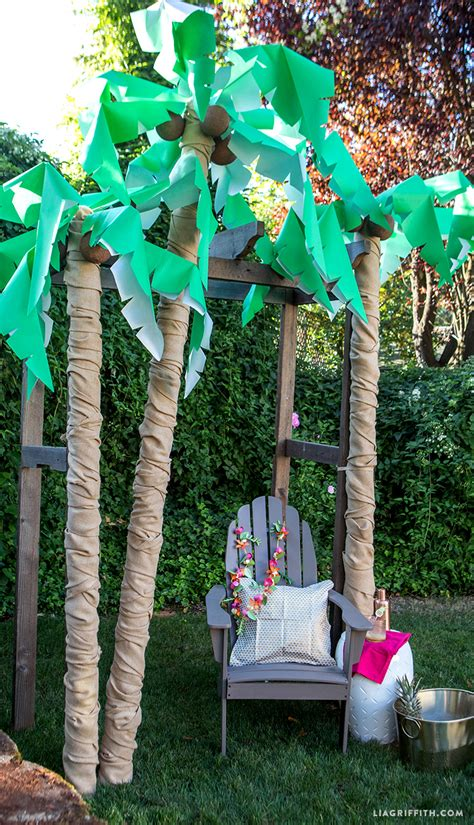 diy palm tree party decor lia griffith