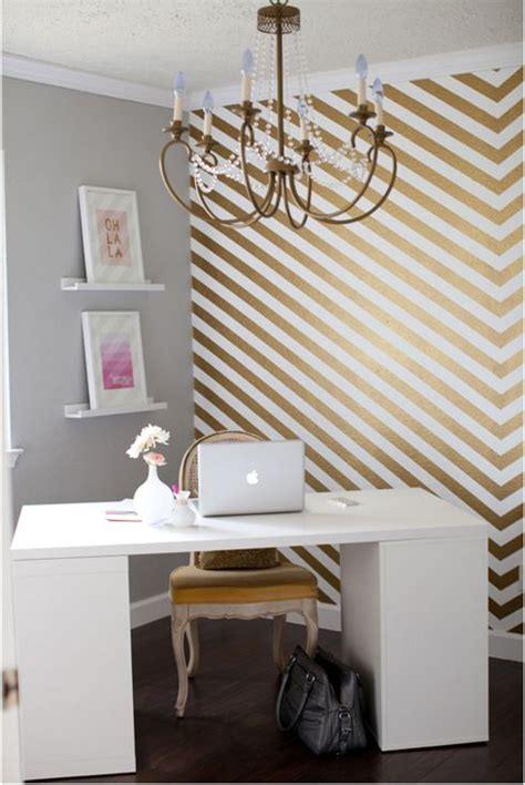 office accent wall gold herringbone accent wall home office so shay home