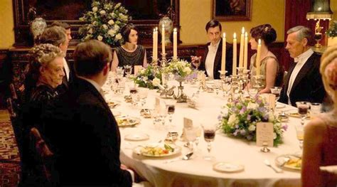 downton style formal dinner table the enchanted manor - Downton Dinner
