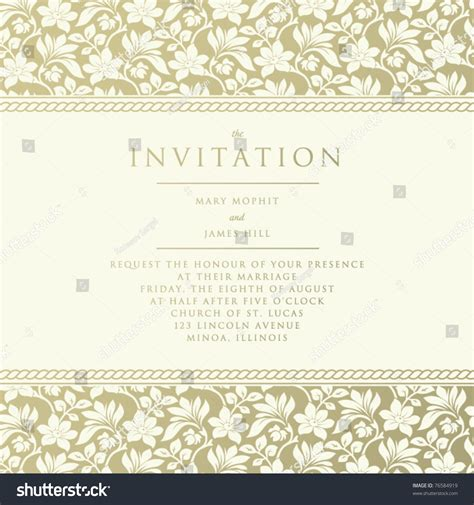 Wedding Announcement Backgrounds by Ornate Damask Background Invitation Wedding Announcements