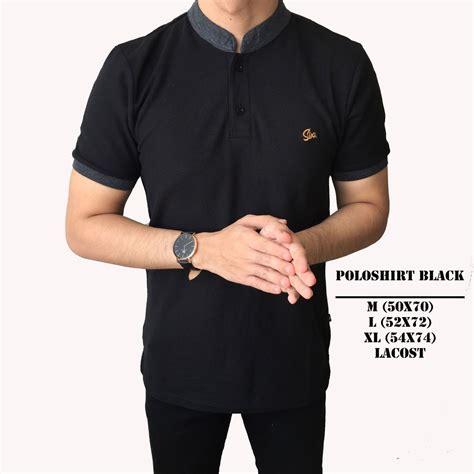 Polo Shirt Pria Polos Pendek Hitam forstylezone polo shirt pria lengan pendek pria polos