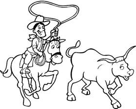 printable cowboy coloring pages coloring