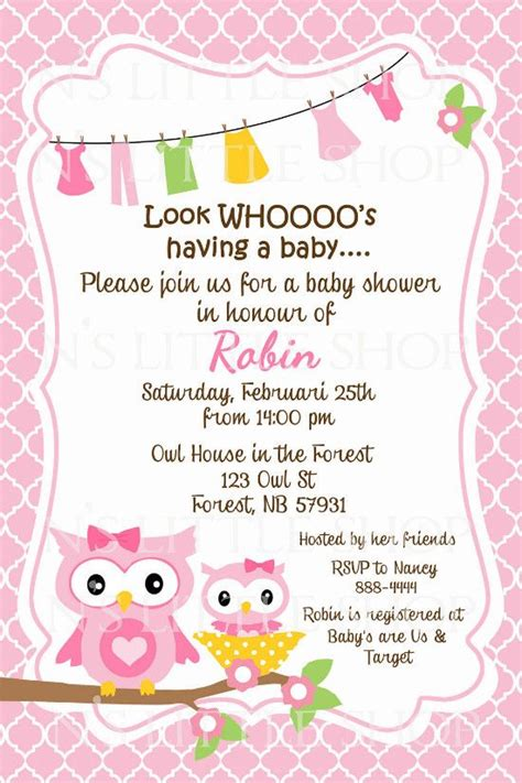 owl sayings for baby baby shower invitation wording