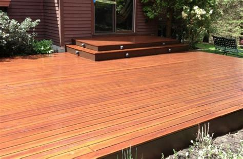 cedar deck  natural seal  deck