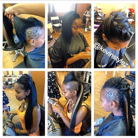 shaved sides long top extensions 26 best shaved hair designs images on pinterest shaved