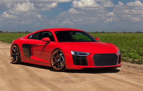 Audi R8 2017 by 2017 Audi R8 V10 On Satin Black Hre Wheels
