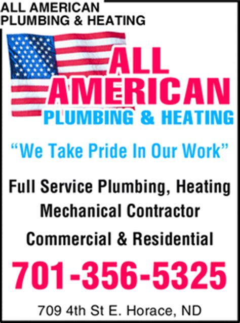 All Plumbing And Heating by All American Plumbing And Heating Horace Nd 58047