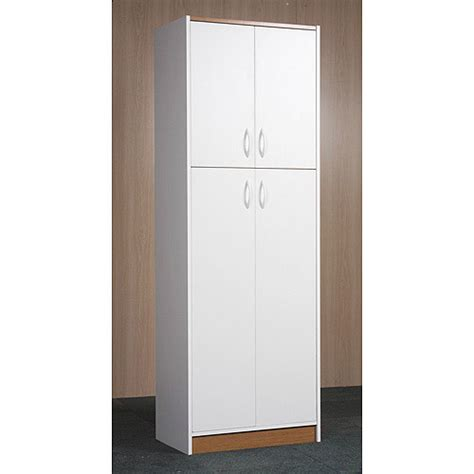 kitchen pantry cabinet white orion 4 door kitchen pantry white walmart com