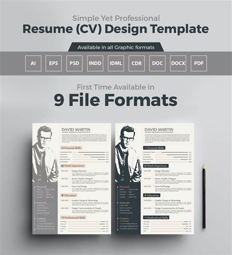 Resume Zip File Resume Template For Graphic Designers Web Developers