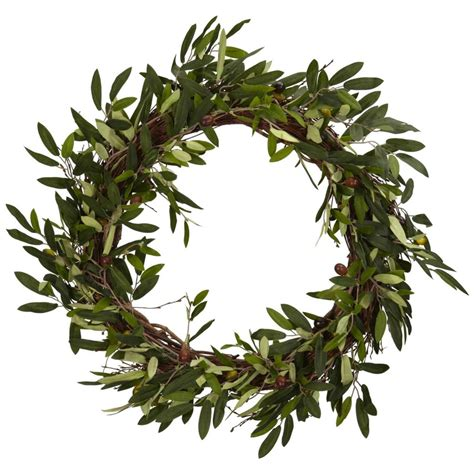 Marvelous Christmas Candle Rings Wreaths #1: Olive-Wreath-1024x1024.jpg