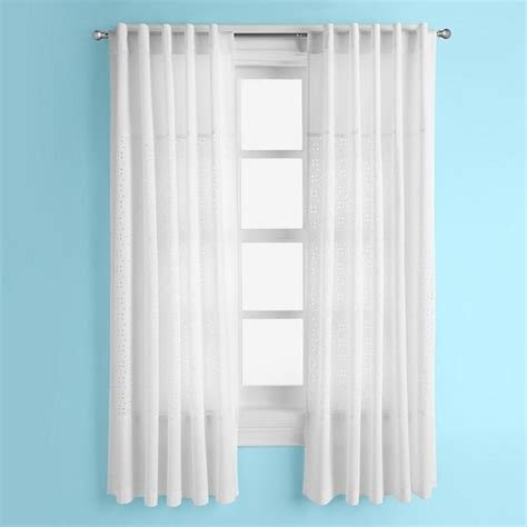 white eyelet curtains eyelet curtain panels white