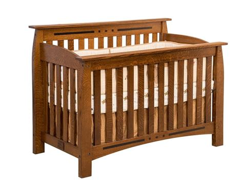 Amish Baby Cribs Amish Atlantic Convertible Crib