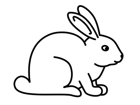 Bunny Clipart Black And White black and white rabbit clipart free clipart design cliparting