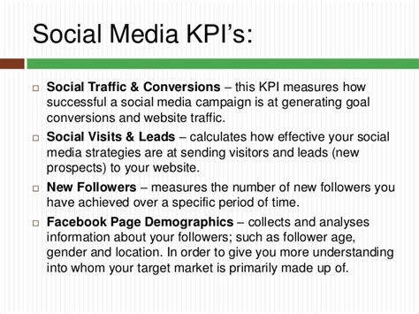 Key Performance Indicators You Should Know Social Media Kpis Template