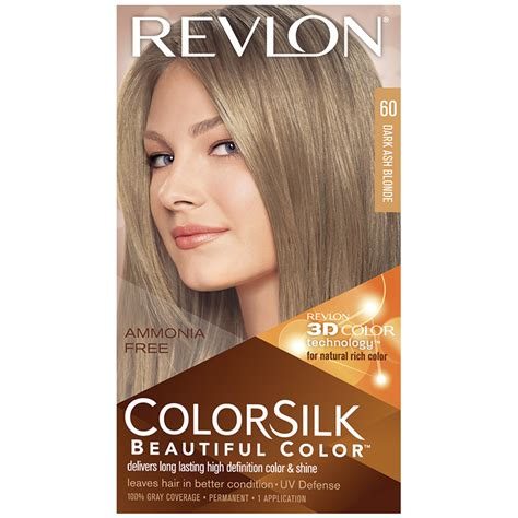 dark ash blonde revlon revlon colorsilk beautiful color dark ash blonde 60 dark