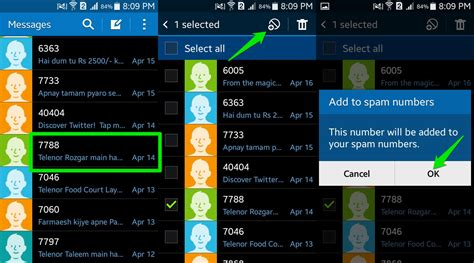 how to block numbers on android how to block text messages on android ubergizmo