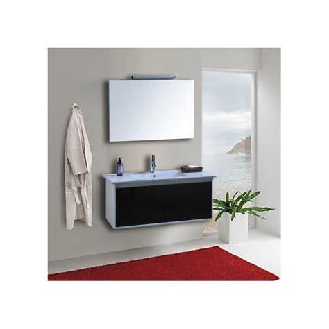 mobile specchio bagno con luce mobile bagno completo pensile bianco nero da 100 cm
