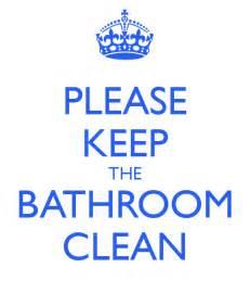 keep the bathroom clean poster rosanayadira