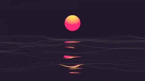 neon dark sunset wallpapers hd wallpapers id