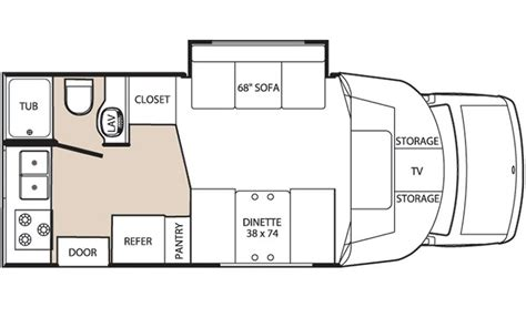 class b rv floor plans class b sprinter motor home floor plans quotes