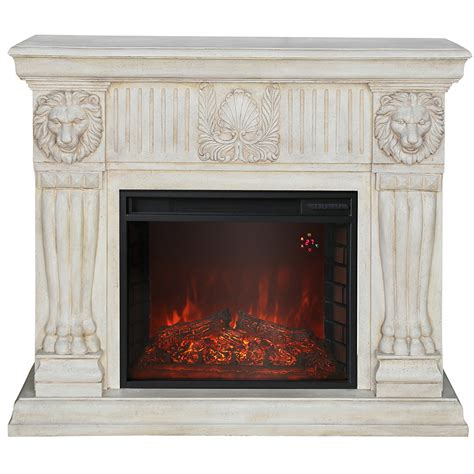 river faux rock electric fireplace compact suite