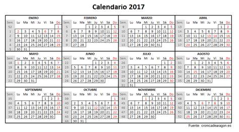 Festivos Calendario 2017 El Gobierno De Arag 243 N Aprueba El Calendario De D 237 As
