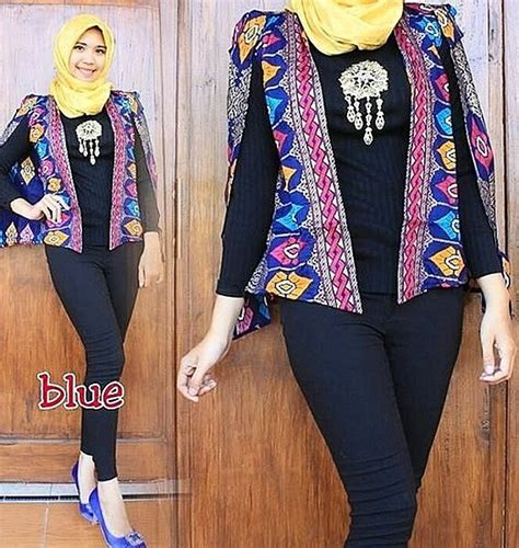 Blazer Batik 46 model blazer wanita dan pria modern dan modis ragam