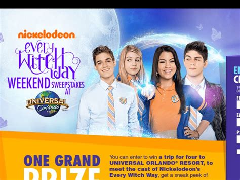 nick com every witch way weekend sweepstakes sweepstakes fanatics - Nick Com Sweepstakes Every Witch Way