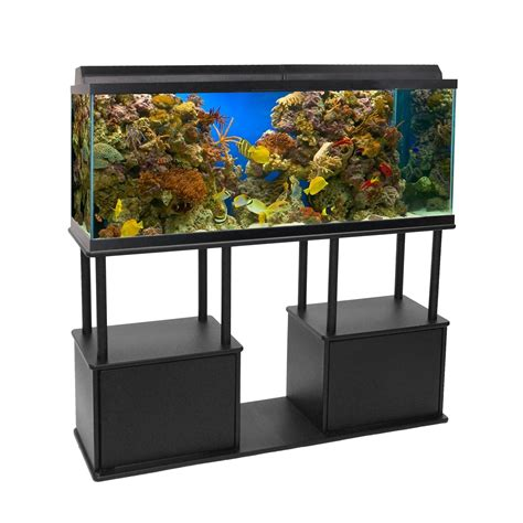 aquatic fundamentals 55 gallon aquarium stand with shelf