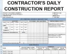 contractors daily report template excel civil