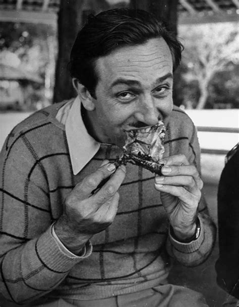 Young Walt Disney Eating Chicken In The 40's | Bored Panda