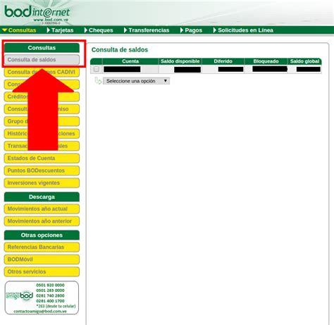 banco bod en linea c 243 mo consultar saldo en bod en l 237 nea