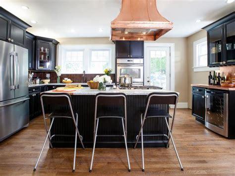 black kitchen island transitional kitchen hgtv in shaker kitchen photo page hgtv