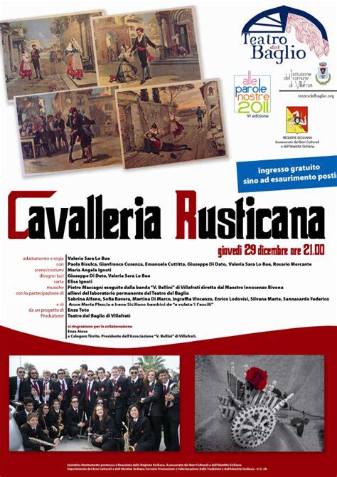 cavalleria rusticana verga testo citt 224 nuove corleone cavalleria rusticana a villafrati
