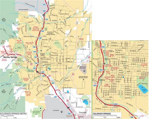 map usa springs colorado springs road map