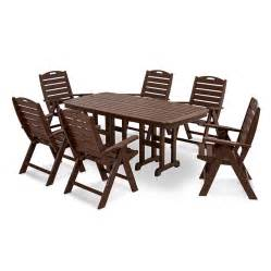 7 Fabulous Nautical Pieces by Polywood Nautical 7 Dining Set Best Outdoor Tables