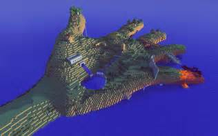 It s a giant hand and it s a minecraft map find out how to make