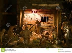 Unisex Gift Exchange Ideas by Nativity Scene Stock Image Image 1527831