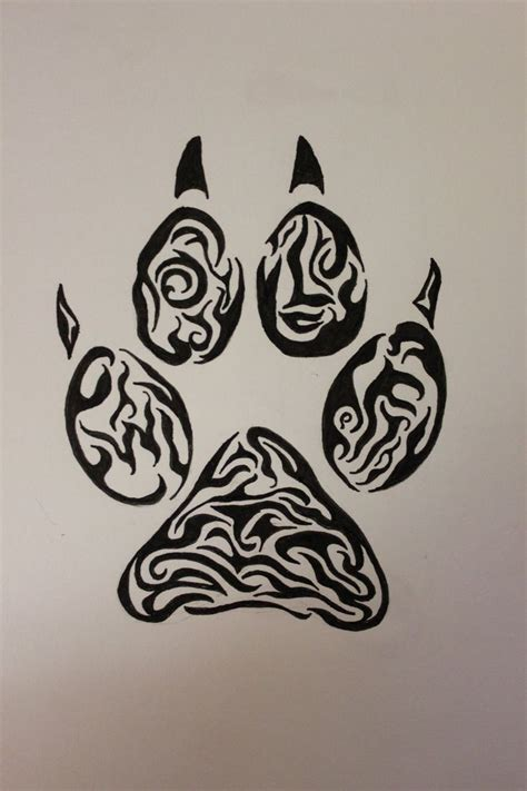 tribal paw tattoo tribal tiger paw print search maori