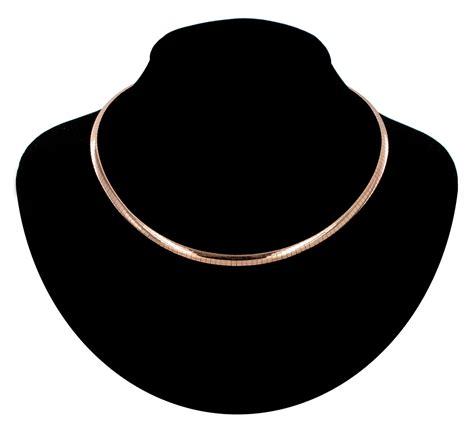 gold collar collar choker necklace gold tone flat omega chain 16 quot usa made ebay