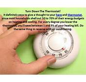Turn Down The Thermostat  Go Green Pinterest
