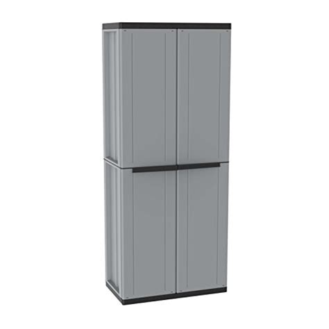 Plastic Storage Cabinets With Doors by Plastic Garden Storage Two Doors Plastic Cabinet With